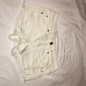 Pair of white American Eagle shorts